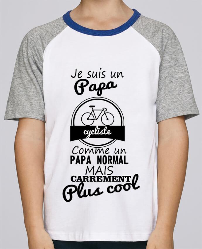 Tee-Shirt Enfant Stanley Mini Jump Short Sleeve Je suis un papa cycliste comme un papa normal mais carrément plus cool par B
