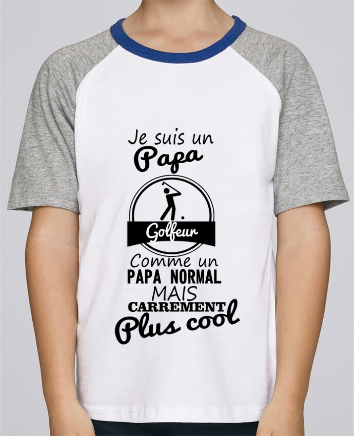 Tee-Shirt Enfant Stanley Mini Jump Short Sleeve Je suis un papa golfeur comme un papa normal mais carrément plus cool par Be