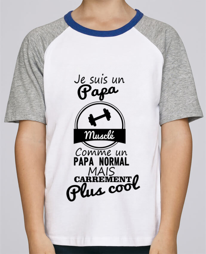 Tee-Shirt Enfant Stanley Mini Jump Short Sleeve Je suis un papa musclé comme un papa normal mais carrément plus cool par Ben
