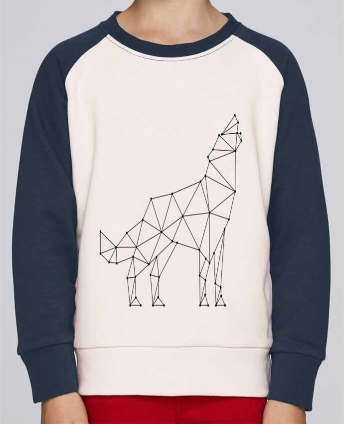 Sweat Shirt Col Rond Enfant Stanley Mini Contrast wolf - geometry par /wait-design