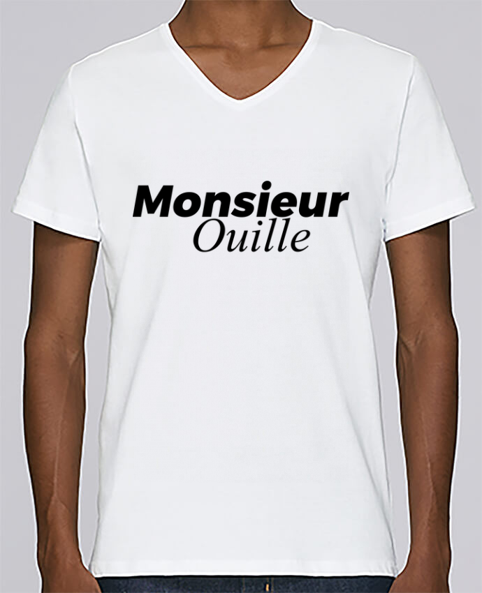 T-shirt Col V Homme Stanley Relaxes Monsieur Ouille par tunetoo