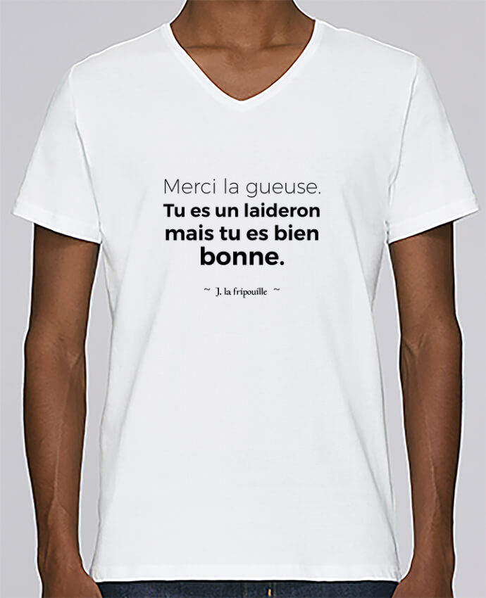 T-shirt Col V Homme Stanley Relaxes Merci la gueuse par tunetoo