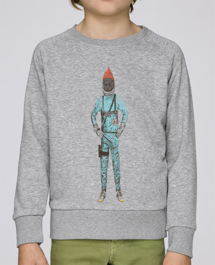 Sweat Col Rond Enfant Stanley Mini Scouts Zissou in space par Florent Bodart