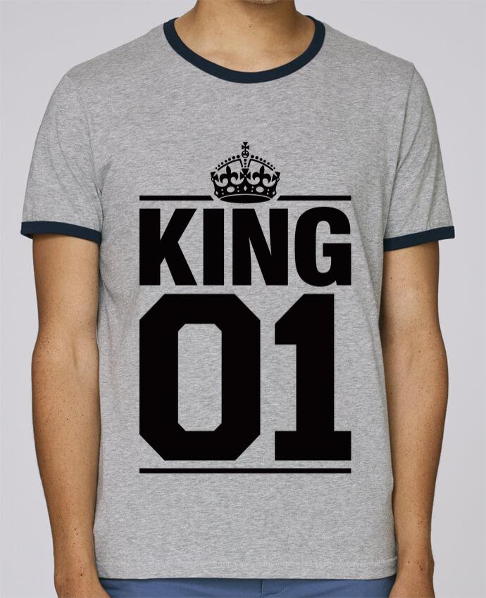 T-Shirt Ringer Contrasté Homme Stanley Holds King 01 pour femme par Freeyourshirt.com