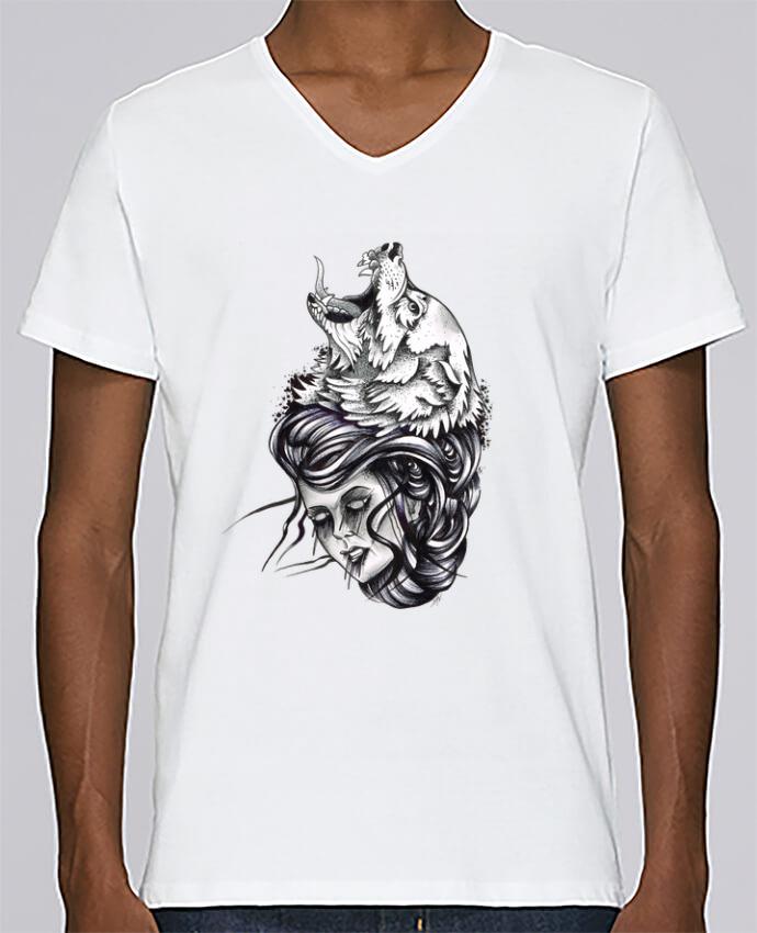 T-shirt Col V Homme Stanley Relaxes Femme & Loup par david
