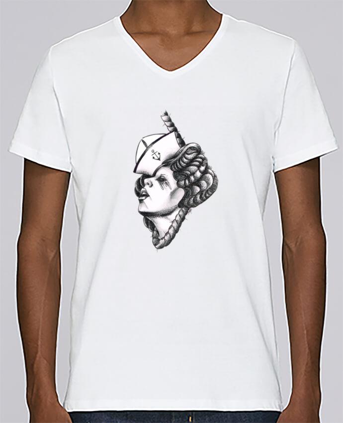 T-shirt Col V Homme Stanley Relaxes Femme capitaine par david