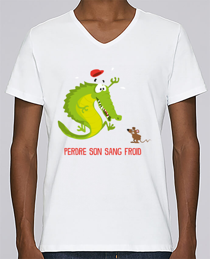 T-shirt Col V Homme Stanley Relaxes Sang froid par Rickydule