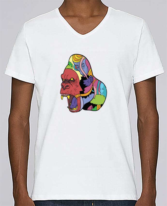 T-shirt Col V Homme Stanley Relaxes wrathofnature par Arya Mularama