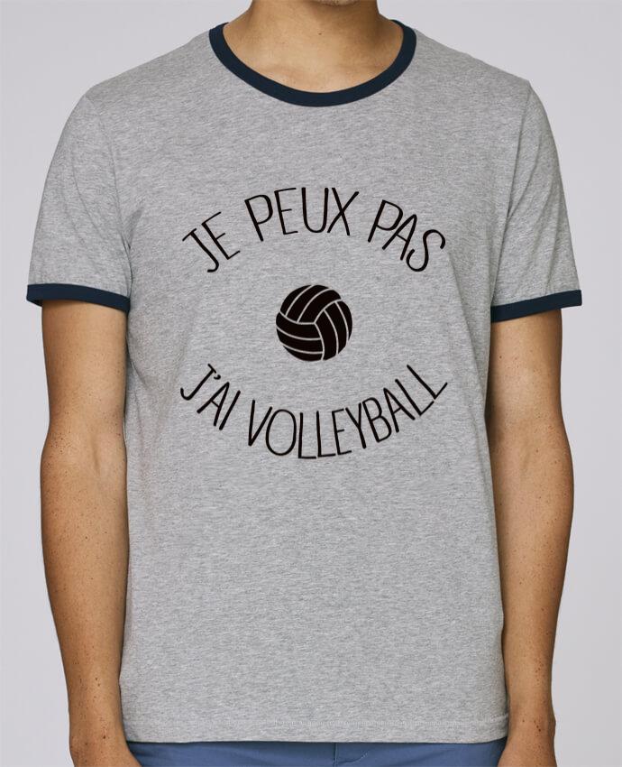 T-Shirt Ringer Contrasté Homme Stanley Holds Je peux pas j'ai volleyball pour femme par Freeyourshirt.com