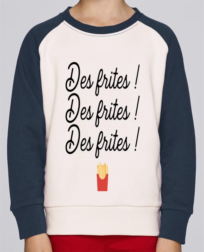 Sweat Shirt Col Rond Enfant Stanley Mini Contrast Des frites ! par Original t-shirt