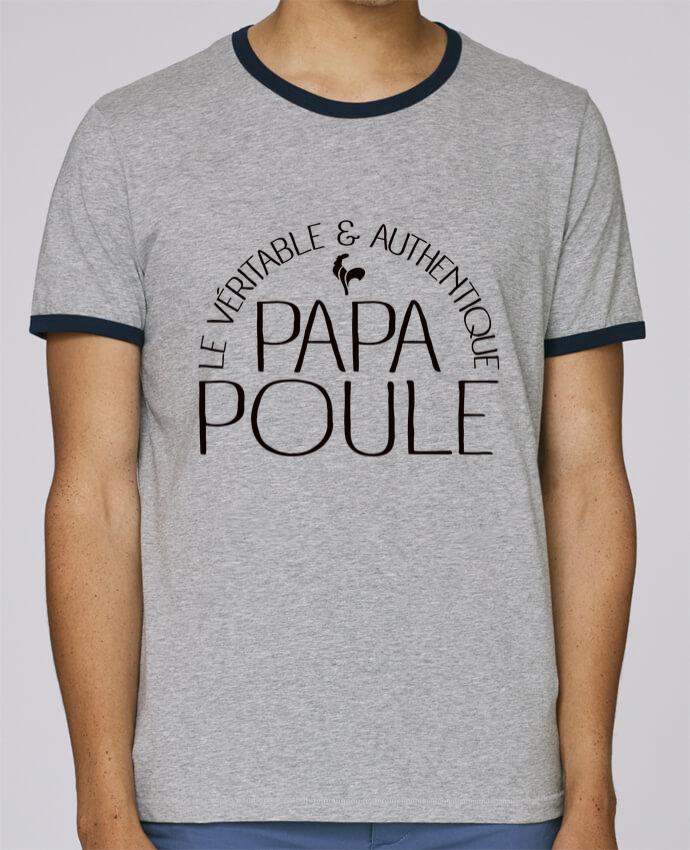 T-Shirt Ringer Contrasté Homme Stanley Holds Papa Poule pour femme par Freeyourshirt.com