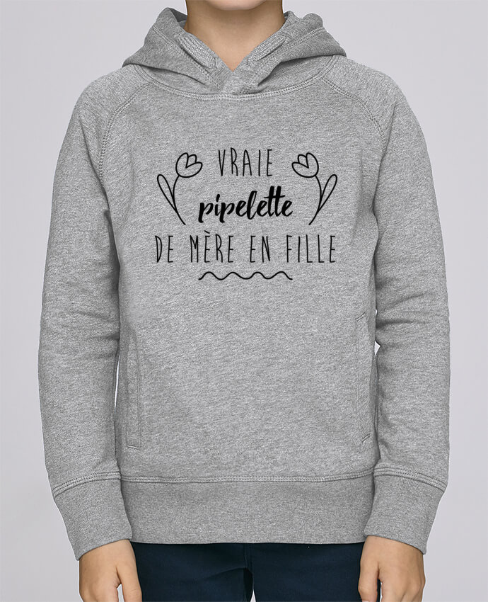 Sweat à Capuche Enfant Stanley Mini Base Vraie pipelette de mère en fille par tunetoo