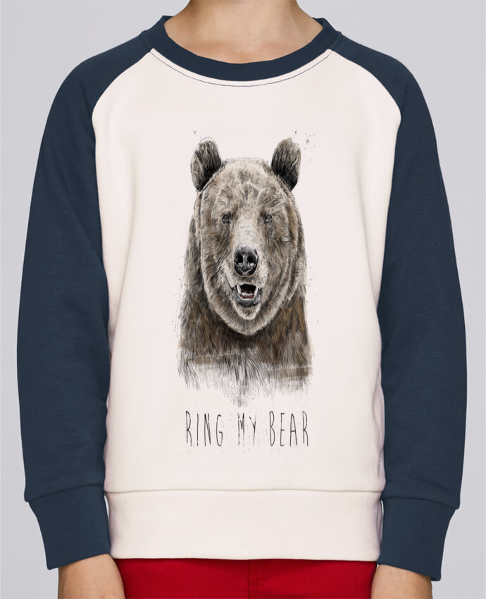 Sweat Shirt Col Rond Enfant Stanley Mini Contrast Ring my bear par Balàzs Solti