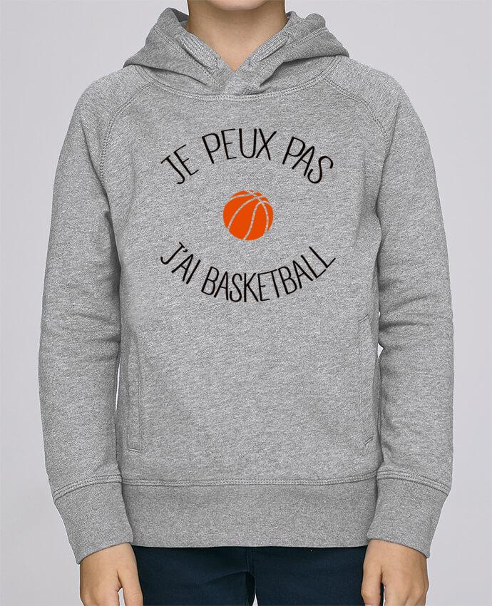 Sweat à Capuche Enfant Stanley Mini Base je peux pas j'ai Basketball par Freeyourshirt.com
