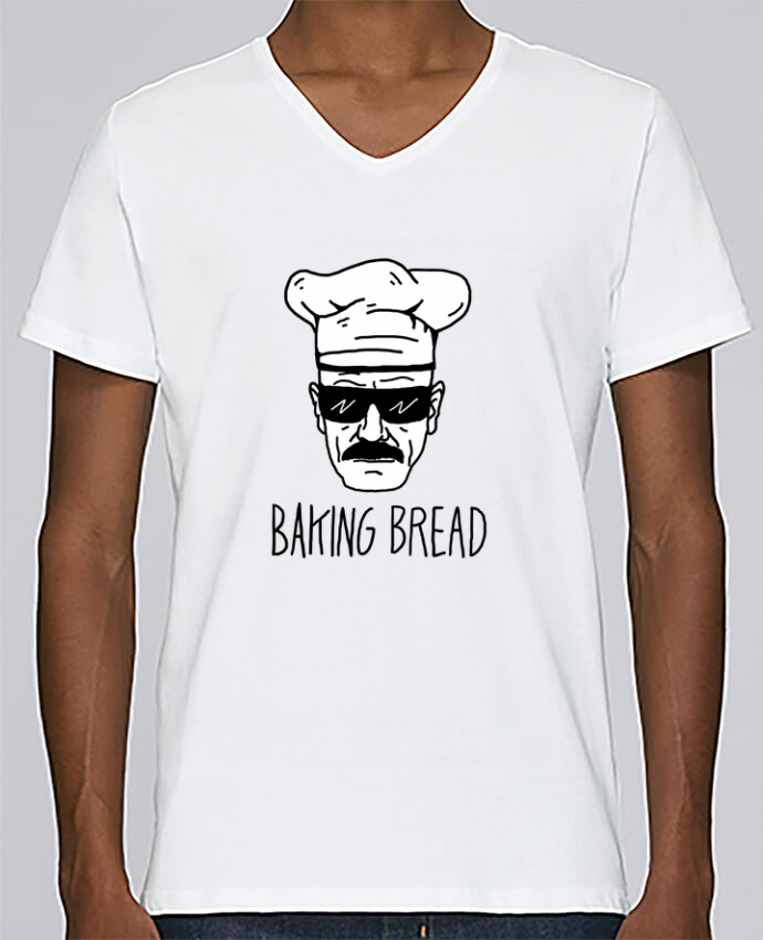 T-shirt Col V Homme Stanley Relaxes Baking bread par Nick cocozza