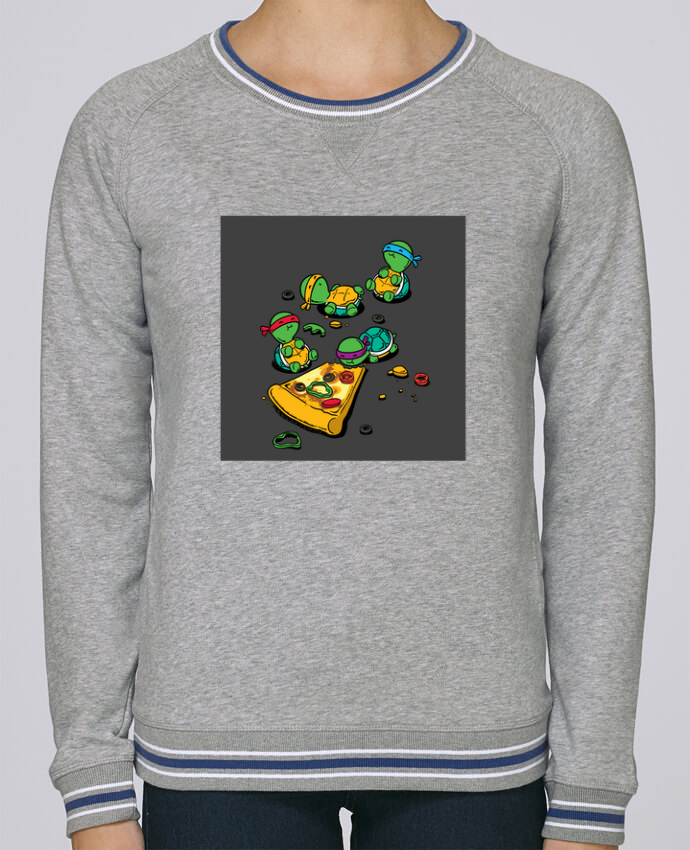 Sweat Col Rond Stella Trips Tipped Pizza lover par flyingmouse365