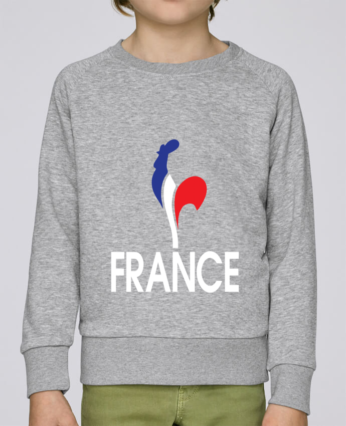 Sweat Col Rond Enfant Stanley Mini Scouts France et Coq par Freeyourshirt.com