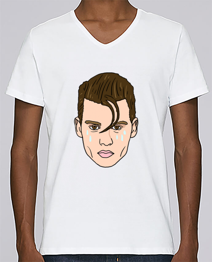 T-shirt Col V Homme Stanley Relaxes Cry baby par Nick cocozza