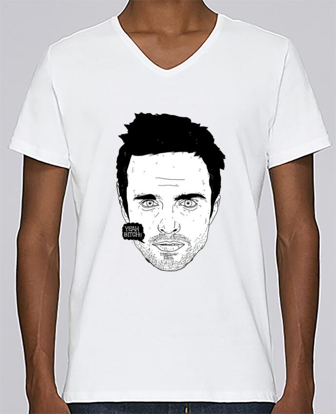 T-shirt Col V Homme Stanley Relaxes Jesse Pinkman par Nick cocozza