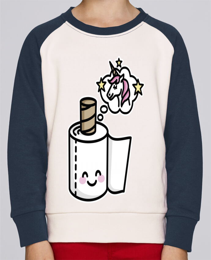 Sweat Shirt Col Rond Enfant Stanley Mini Contrast Unicorn Toilet Paper par LaundryFactory