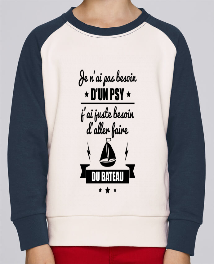 Sweat Shirt Col Rond Enfant Stanley Mini Contrast Je n
