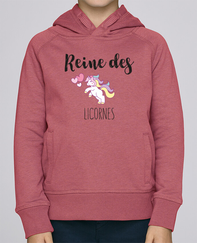 Sweat à Capuche Enfant Stanley Mini Base Reine des licornes par tunetoo