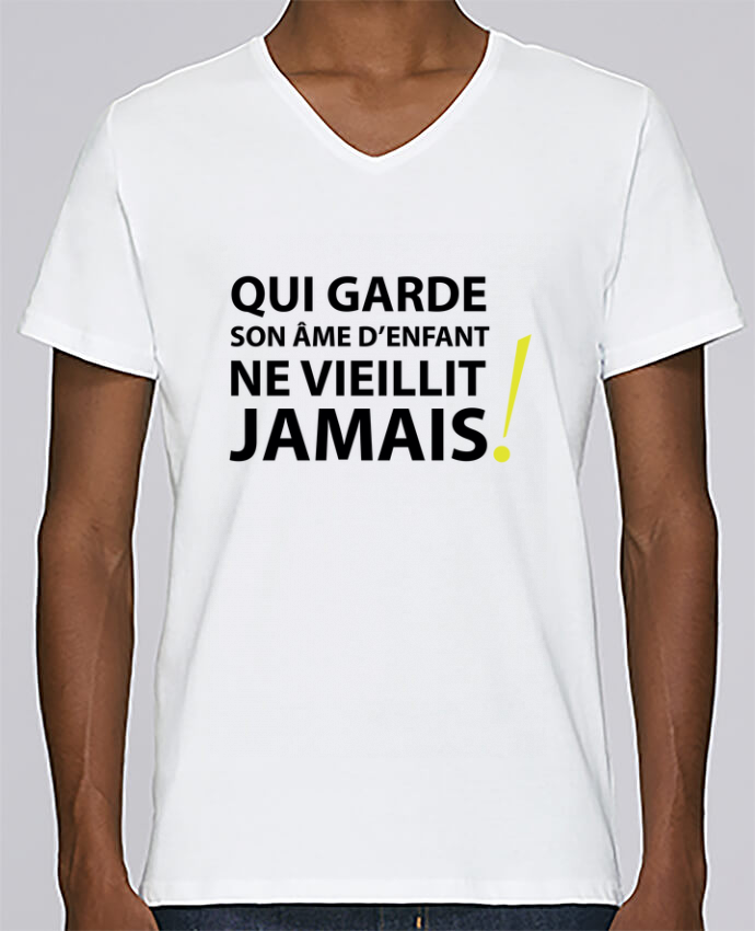 T-shirt Col V Homme Stanley Relaxes Qui garde son âme d