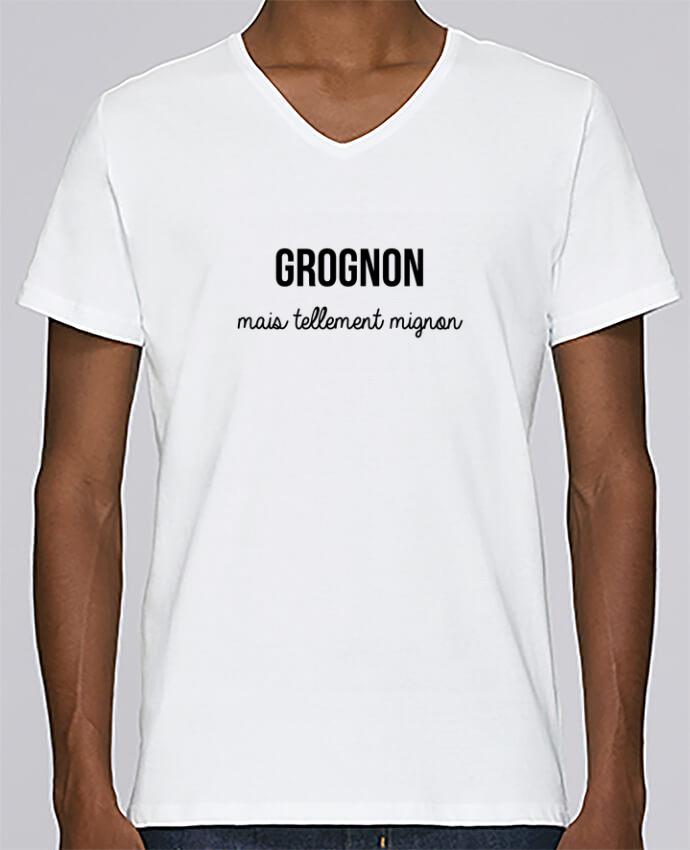 T-shirt Col V Homme Stanley Relaxes Grognon par tunetoo