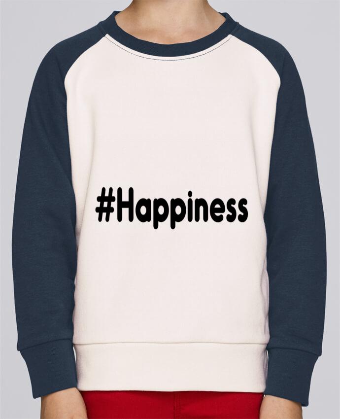 Sweat Shirt Col Rond Enfant Stanley Mini Contrast #Happiness par tunetoo