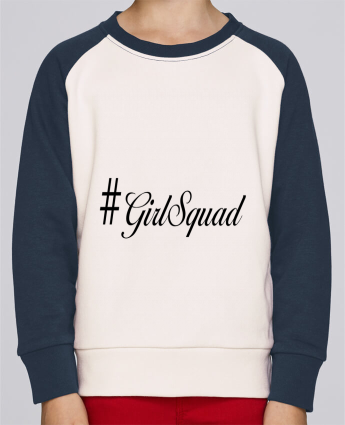 Sweat Shirt Col Rond Enfant Stanley Mini Contrast #GirlSquad par tunetoo
