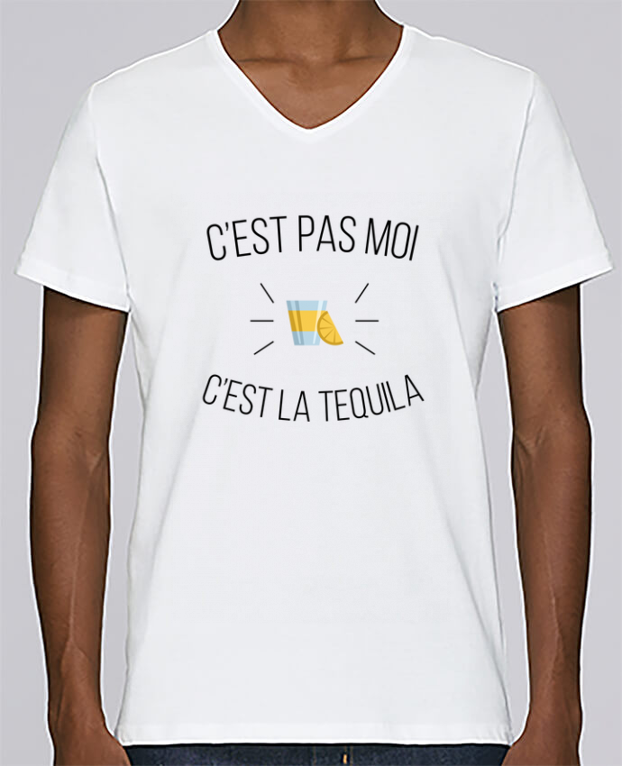 T-shirt Col V Homme Stanley Relaxes C'est la tequila par tunetoo
