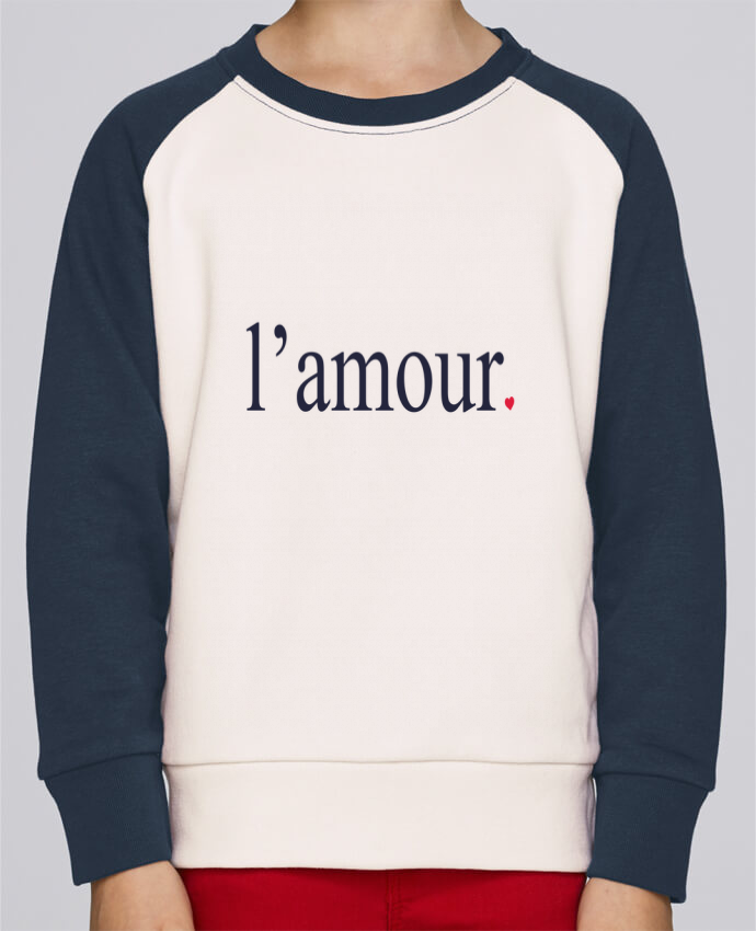 Sweat Shirt Col Rond Enfant Stanley Mini Contrast l'amour by Ruuud par Ruuud