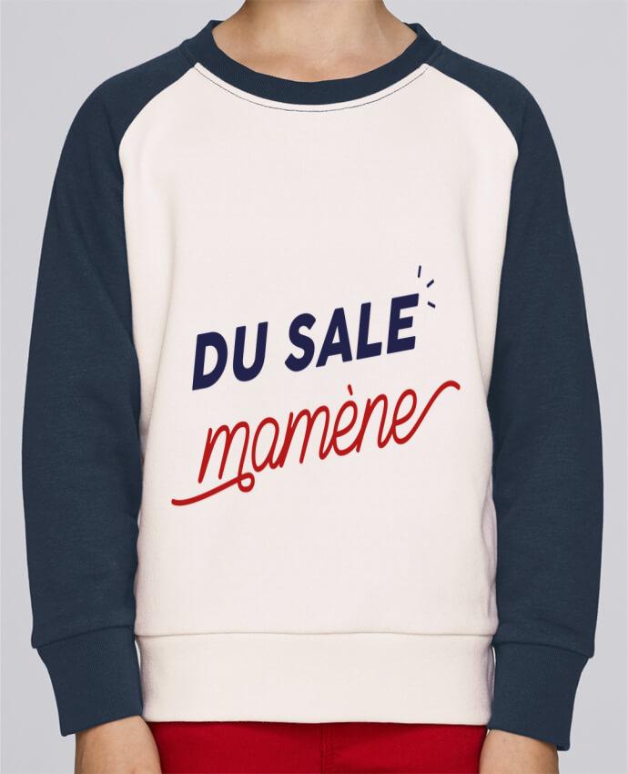Sweat Shirt Col Rond Enfant Stanley Mini Contrast du sale mamène by Ruuud par Ruuud