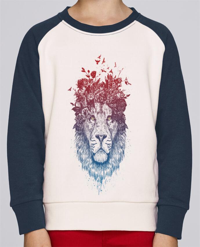Sweat Shirt Col Rond Enfant Stanley Mini Contrast Floral lion III par Balàzs Solti