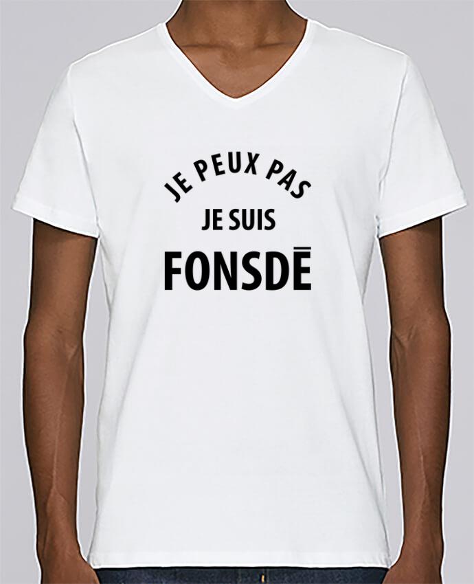 T-shirt Col V Homme Stanley Relaxes Je peux pas je suis fonsde par Ruuud