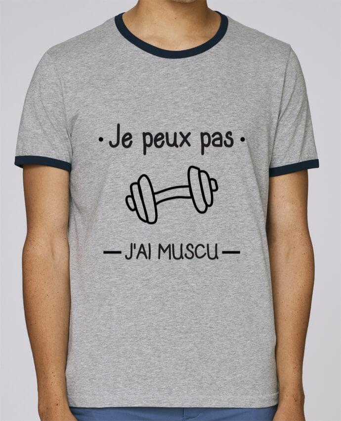 T-Shirt Ringer Contrasté Homme Stanley Holds Je peux pas j'ai muscu, musculation pour femme par Benichan