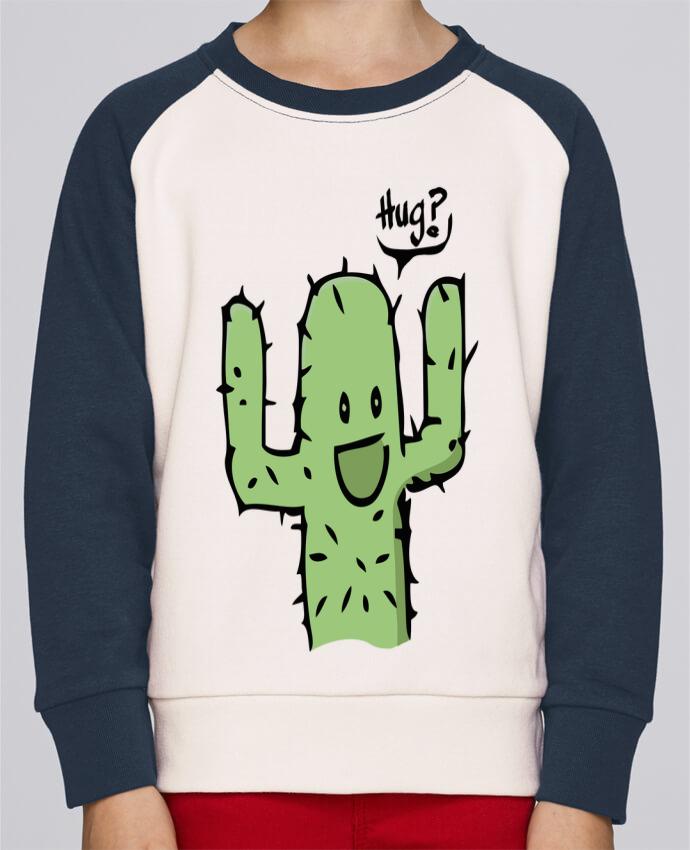 Sweat Shirt Col Rond Enfant Stanley Mini Contrast cactus calin gratuit par Tête Au Carré