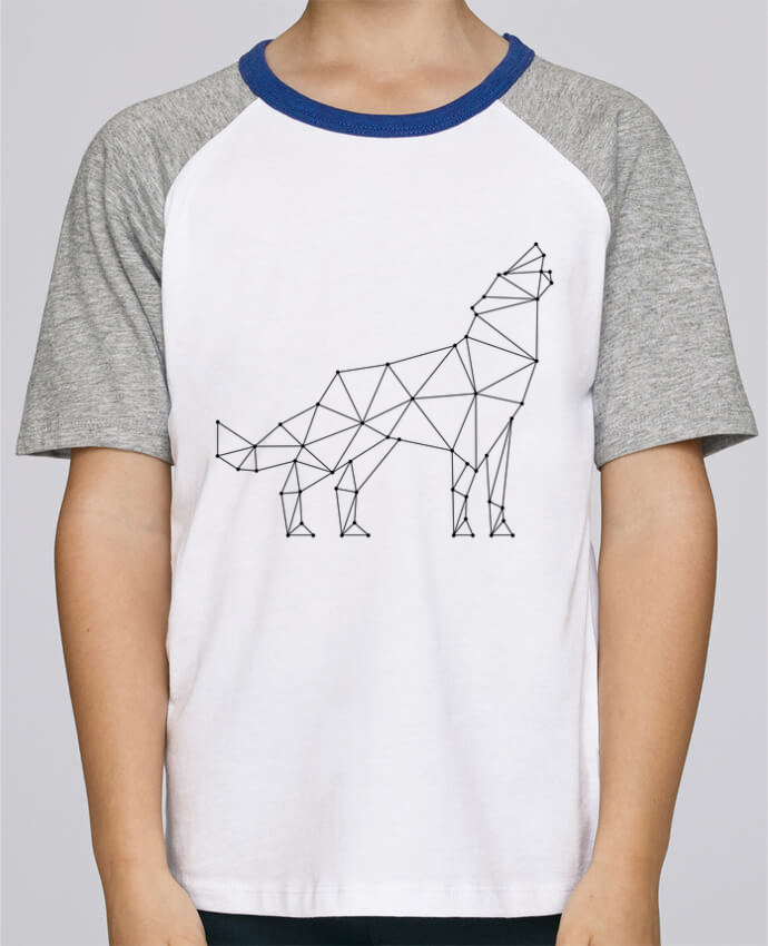 Tee-Shirt Enfant Stanley Mini Jump Short Sleeve wolf - geometry par /wait-design