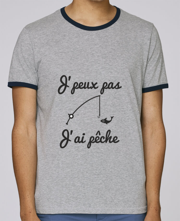 reputable site 1cef0 6c9e1 3304944-t-shirt-ringer-contraste-homme -stanley-holds-heather-grey-french-navy-j-peux-pas-j-ai-peche-tee-shirt-pecheur-pecheur-by-benichan.png