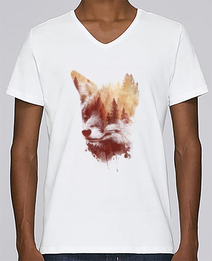 T-shirt Col V Homme Stanley Relaxes Blind fox par robertfarkas