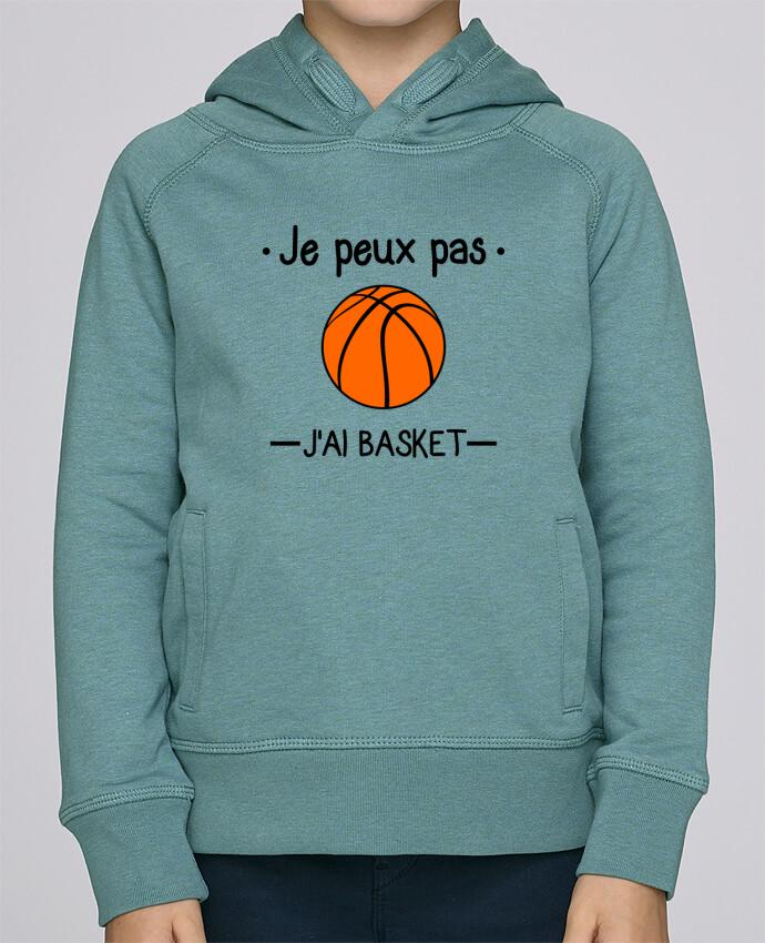 Sweat à Capuche Enfant Stanley Mini Base Je peux pas j'ai basket,basketball,basket-ball par Benichan