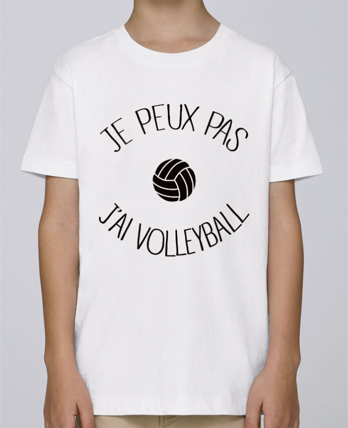 Tee Shirt Garçon Stanley Mini Paint Je peux pas j'ai volleyball par Freeyourshirt.com