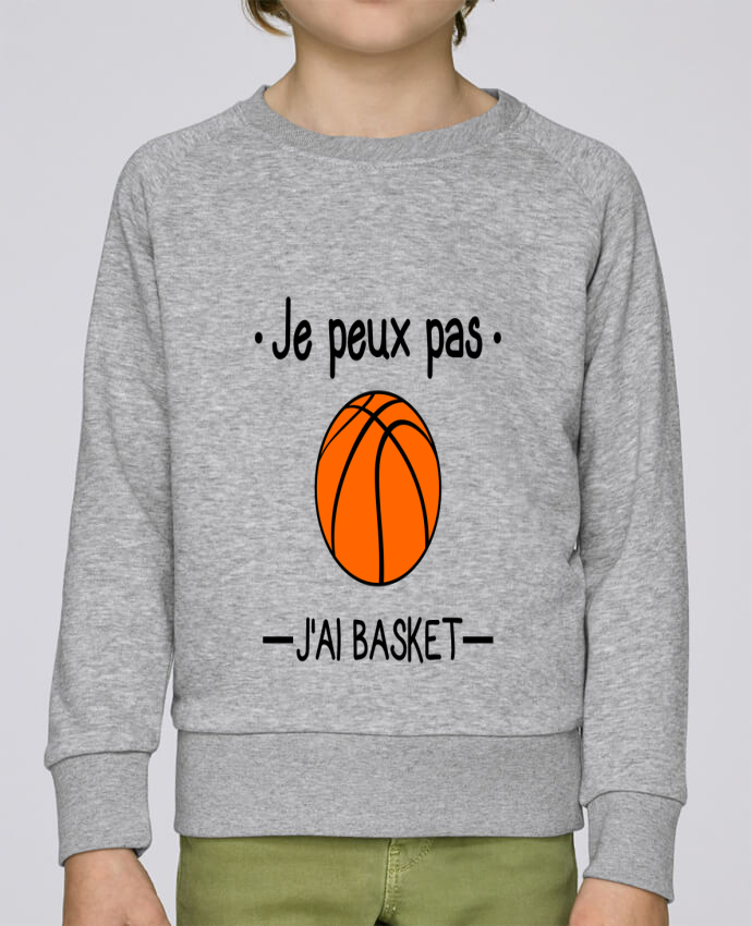 Sweat Col Rond Enfant Stanley Mini Scouts Je peux pas j'ai basket,basketball,basket-ball par Benichan