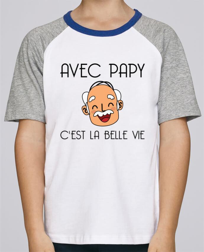 Tee-Shirt Enfant Stanley Mini Jump Short Sleeve Avec papy c'est la belle vie ! par tunetoo