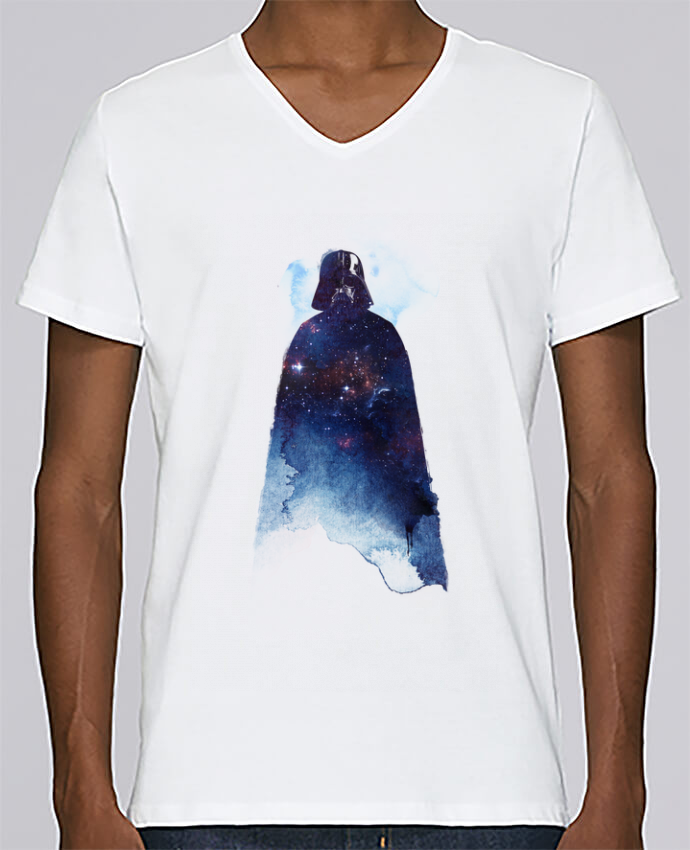T-shirt Col V Homme Stanley Relaxes Lord of the universe par robertfarkas