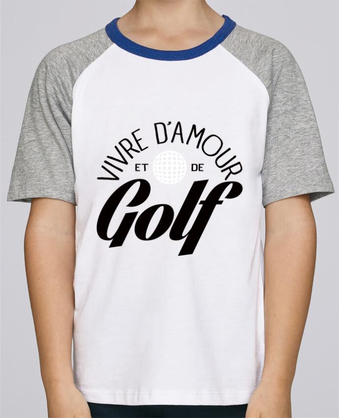Tee-Shirt Enfant Stanley Mini Jump Short Sleeve Vivre d'Amour et de Golf par Freeyourshirt.com