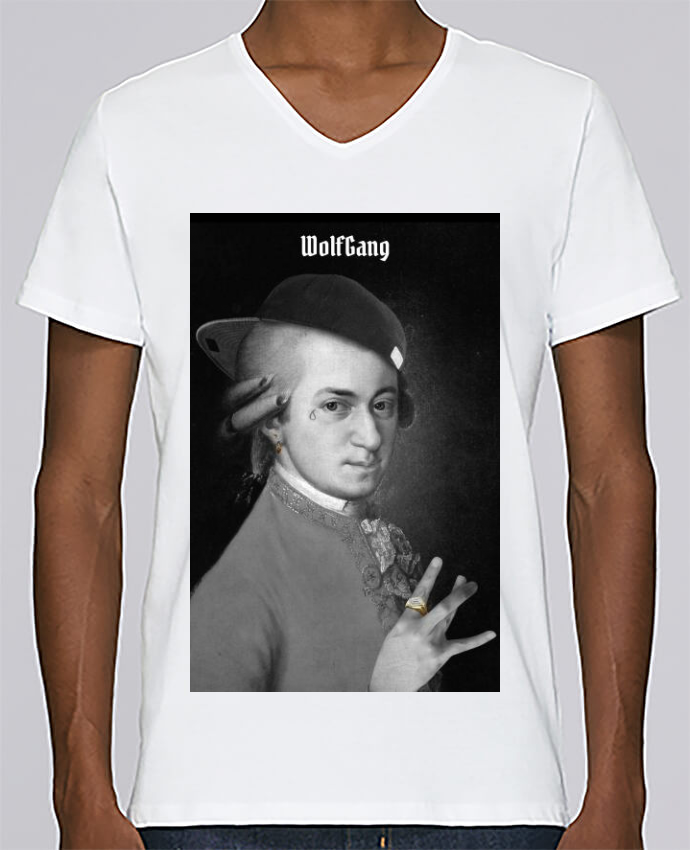 T-shirt Col V Homme Stanley Relaxes WolfGang par Ads Libitum