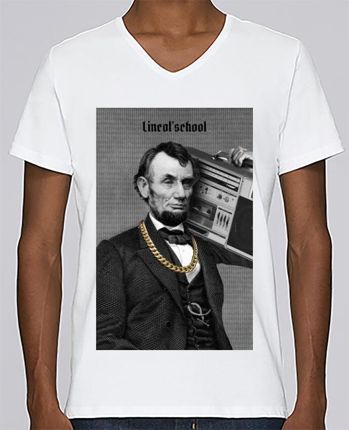 T-shirt Col V Homme Stanley Relaxes Lincol'school par Ads Libitum