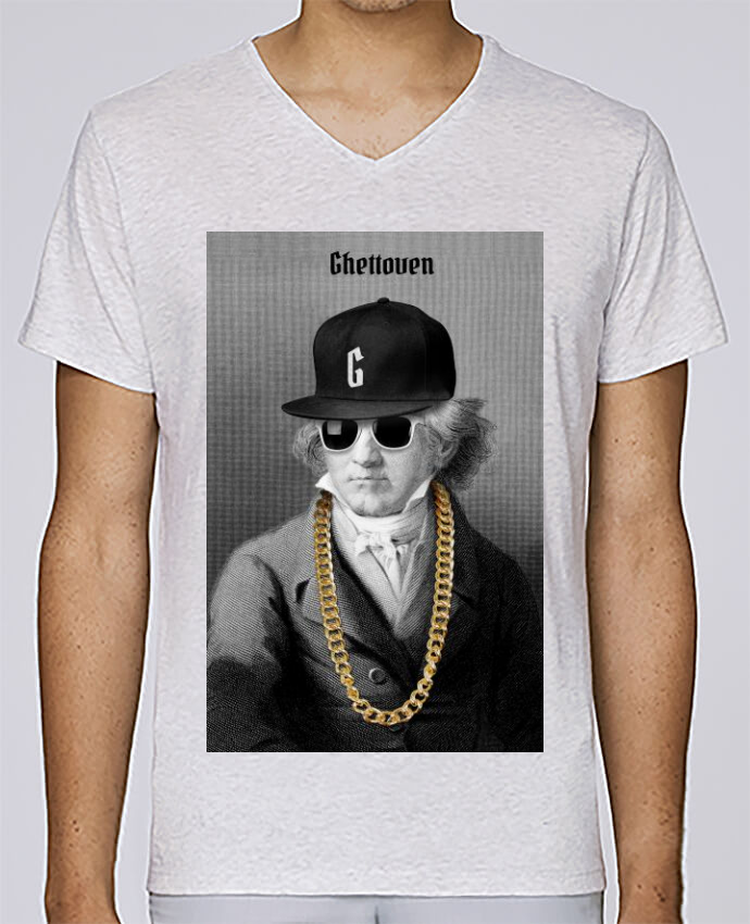 T-shirt Col V Homme Stanley Relaxes Ghettoven par Ads Libitum