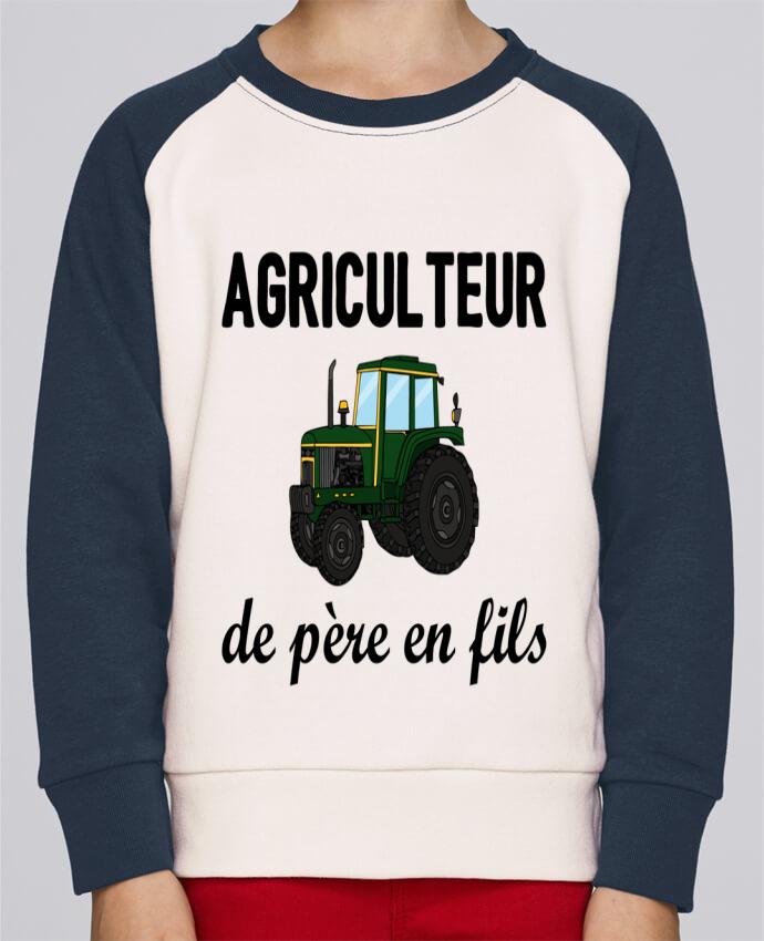 Sweat Shirt Col Rond Enfant Stanley Mini Contrast Agriculteur de père en fils par tunetoo